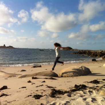 The beach at Troytown Campsite, St agnes, Isles of Scilly