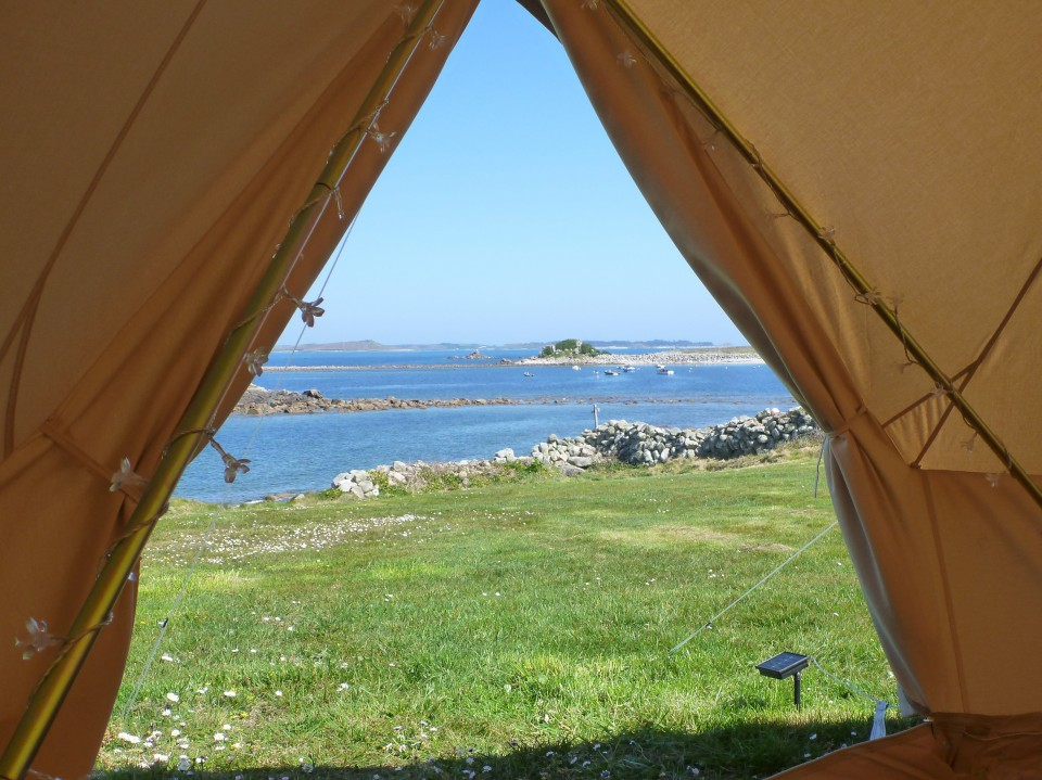 With a rented bell tent you can travel light and be relaxing in your tent enjoying the view with a cuppa within minutes of arriving on the Island. & Troytown Farm u0026 Campsite - Bell Tent Rental