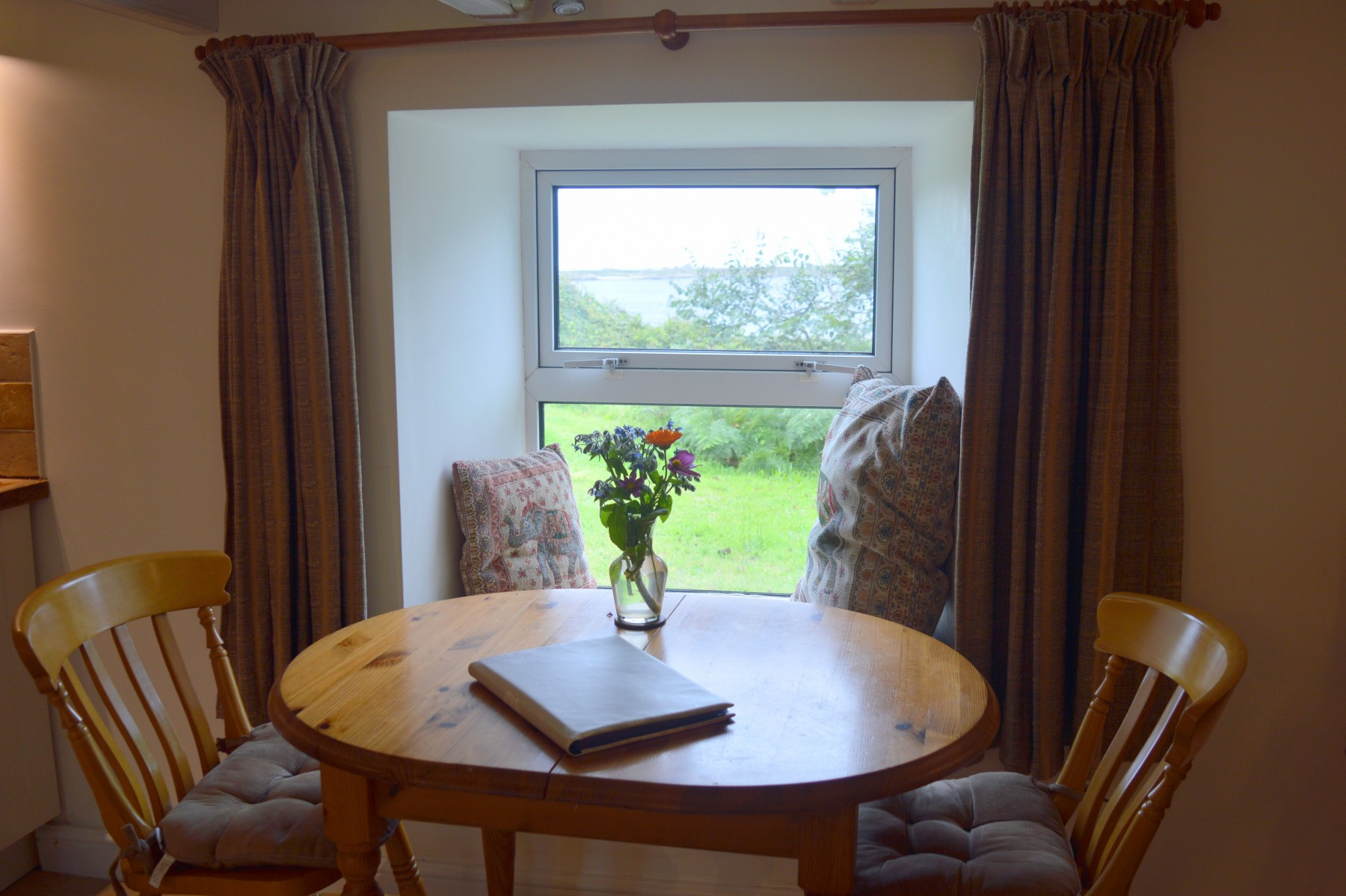 Dining table and window seat